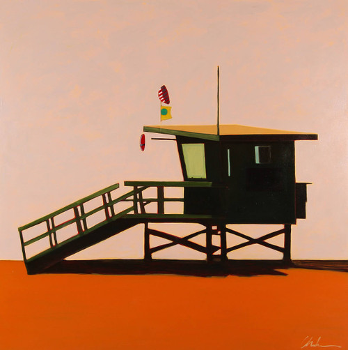 Lifeguard Station at Dusk