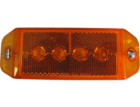 Amber Rectangular Running Light