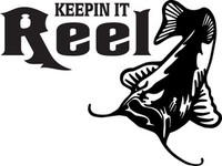 Fishing Reel Decal FSN1 #7 Catfish Boat/Truck Window Stickers