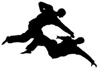 Martial Art Fight Decal STSBS #12 Fighting Vinyl Window Truck Stickers