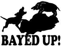 Wild Hog Bayed Up! Decal Truck Window Stickers
