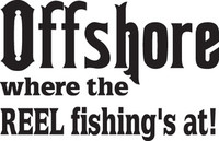 Offshore Fishing Decal, FSN1-69 Truck Window,Boat Sticker