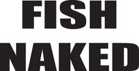 Fish Naked Decal, FSN1-26 Window Sticker
