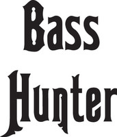 Bass Hunter Decal, FSN1-16 Window Sticker