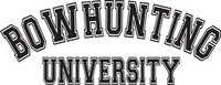 Bowhunting University Decal, HNT2-229 Sticker