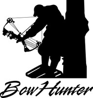Bowhunter Deer Decal HNT1-238 Wildlife Window Stickers