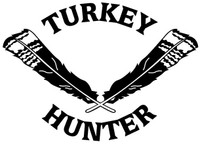 Turkey Hunting Decals and Window Stickers. Turkey Feather Vinyl Sticker.