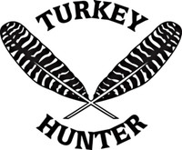 Turkey Hunter Decal HNT1- 223 Truck Vinyl Window Sticker