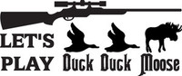 Duck Duck Moose Decal HTN1-113 Truck Window Sticker