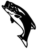 Bass  Decal WD#92 Fishing Boat Window Stickers