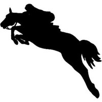 Equestrian Horse Jumping Decal ST2010S Window Stickers