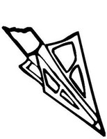 Bowhunting Arrow Head Decals MD Window Stickers