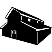 Big Barn Decal ST2010B Farm Building Window Stickers