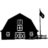 Barn Decal ST2010B #3 Farm Building Window Stickers