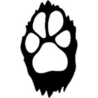 Dog Paw Track ST2010A Wildlife Window Decals & Stickers