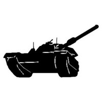 Military Decal STSBW #25 Army Tank Vinyl Window Stickers