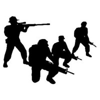 Military Decal STSBW #23 War Vinyl Window Stickers