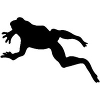 Frog Jumping Decal ST2010A Vinyl Boat Truck Sticker