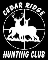 Deer In Cross Hairs Hunting Club Decal, Vinyl Wildlife Sticker