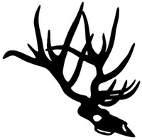 Big Buck Deer Skull Decal ST2010D #55 Hunting Stickers