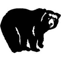 Black Bear #26 Decal ST2010A Vinyl Wildlife Window Stickers