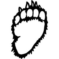 Grizzly Paw ST2010A Wildlife Hunting Decals & Stickers 6""