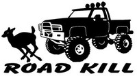Road Kill Deer Decal, Truck Window Stickers