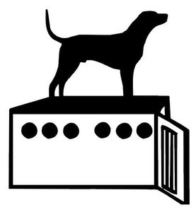 Dog And Dog Box Decal Coon Hunting Window Sticker Wildlife Decal - Sporting dog decals
