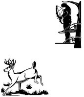 Bowhunting Deer Decal Combo 2 Decals Whitetail Deer