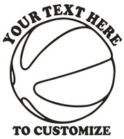 Basketball Decal / Window Stickers Add Your Text