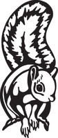 Squirrel Decal HNT1-332 Wildlife Hunting Window Stickers