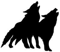 Wolf Decal WD-61 Vinyl Wolf Window Sticker