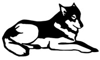 Wolf Decal WD-62 Vinyl Wolf Truck Window Sticker