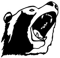 Open Mouth Bear Decals and Bear Stickers. Personalize any of our hunting decals with your choice of text, color and size.These are perfect for trucks, cars, windows, gun cabinets, 4-wheelers, boats, mailboxes or any clean semi-smooth surface. Show your passion for what you love. Free Shipping on all orders over $25.00