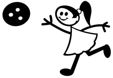Bowling Girl Decal 88 Figure Stick People Car Stickers Wildlife