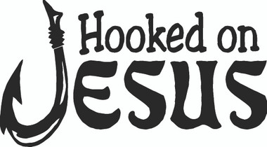 Hooked On Jesus Christian Decal Rel2 73 Vinyl Car Window