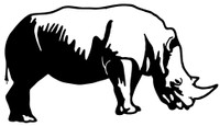 Rhino Decal STSBA #1  Vinyl Window Sticker