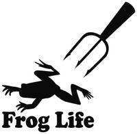 Frog Gigging Decals and Window Stickers