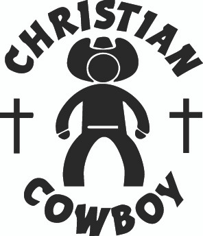 Christian Cowboy Decals and Window Stickers