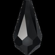 Swarovski Pendant 6000 - 11x5.5mm, Jet (280), 6pcs