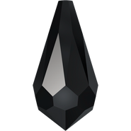Swarovski Pendant 6000 - 15x7.5mm, Jet (280), 6pcs
