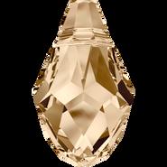Swarovski Pendant 6007 - 7x4mm, Crystal Golden Shadow (001 GSHA), 6pcs