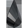 Swarovski Pendant 6020 - 18mm, Jet (280), 2pcs