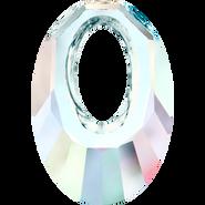 Swarovski Pendant 6040 - 20mm, Crystal Aurore Boreale (001 AB), 2pcs