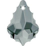 Swarovski Pendant 6090 - 16x11mm, Black Diamond (215), 2pcs