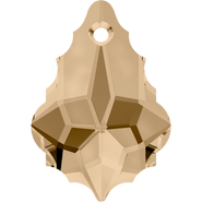 Swarovski Pendant 6090 - 16x11mm, Crystal Golden Shadow (001 GSHA), 2pcs