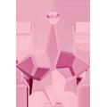 Swarovski Pendant 6090 - 22X15mm, Light Rose (223), 2pcs