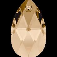 Swarovski Pendant 6106 - 16mm, Crystal Golden Shadow (001 GSHA), 2pcs