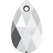 Swarovski Pendant 6106 - 16mm, Crystal Light Chrome (001 LTCH), 2pcs