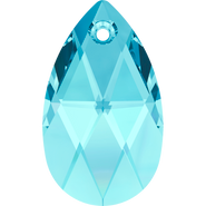 Swarovski Pendant 6106 - 22mm, Aquamarine (202), 2pcs